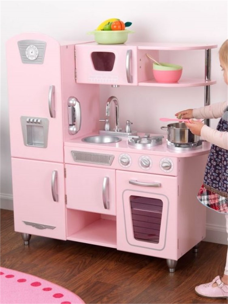 Girl With Kitchen Set