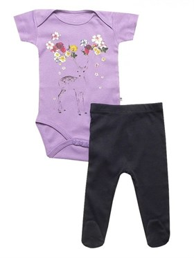 Bebeque Minik Bambi Set - Purple