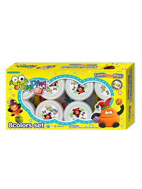 JumpingClay 8 Colors Set (Container Type)