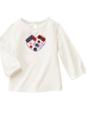 Gymboree Button Heart Sweatshirt