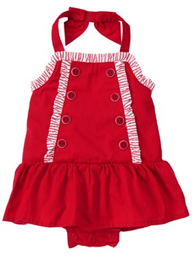 Gymboree Red Vintage Elbise