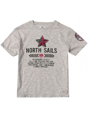 North Sails T-Shirt - Gri - Baskılı