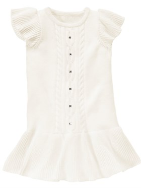 Gymboree White Angel Triko Elbise