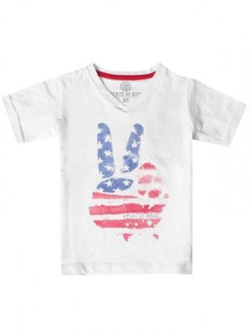State of Kids Baskılı T-Shirt - USA