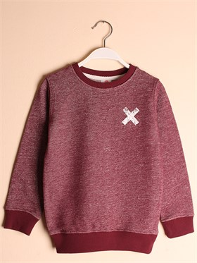 State of Kids Houston Sweatshirt - Bordo Brave