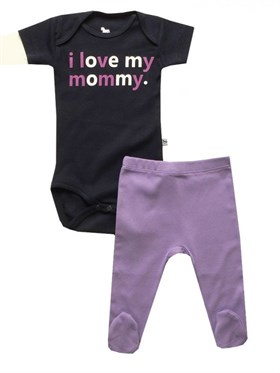 Bebeque I Love My Mommy Set -  Lacivert