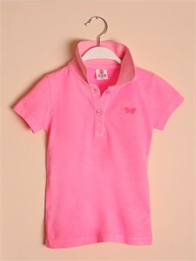 State of Kids Florida Polo T-Shirt-Pembe