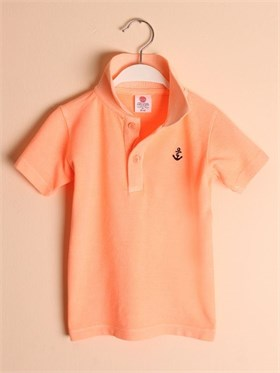 State of Kids Florida Polo T-Shirt-Turuncu