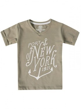 State of Kids Port Of New York T-Shirt - Gri